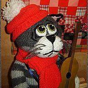 Куклы и игрушки ручной работы. Ярмарка Мастеров - ручная работа Кот с гитарой. Handmade.