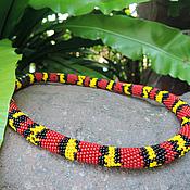 """Украшения ручной работы. Ярмарка Мастеров - ручная работа Колье-жгут """"Coral Snake"""". Handmade."""