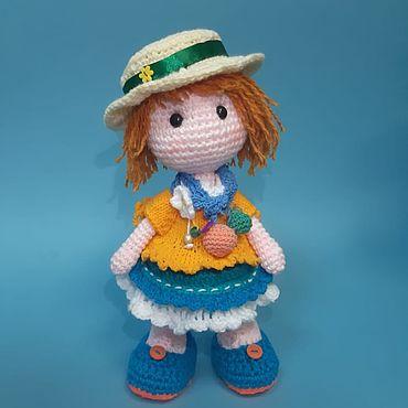 Куклы и игрушки ручной работы. Ярмарка Мастеров - ручная работа Игрушки: Кукла Моника. Handmade.