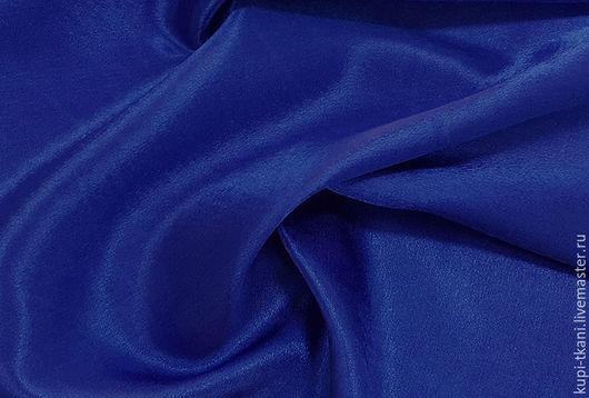 Креп-сатин синий
