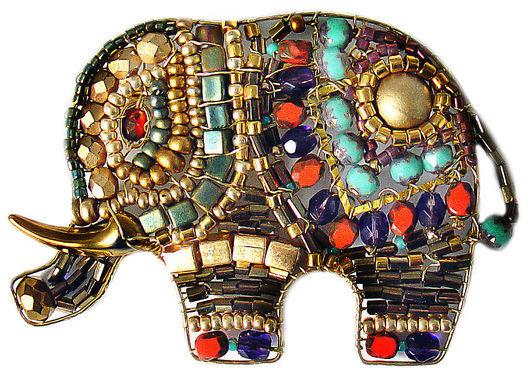 Brooches handmade. Livemaster - handmade. Buy Brooch Elephant No. №5.Elephant, elephant, red, brown, gift