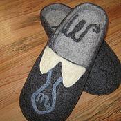 Обувь ручной работы. Ярмарка Мастеров - ручная работа Мужские тапки-шлепки. Handmade.