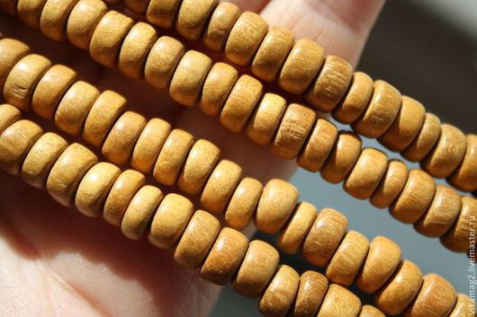 Для украшений ручной работы. Ярмарка Мастеров - ручная работа. Купить Желтое дерево, хейши 7 мм. Handmade.