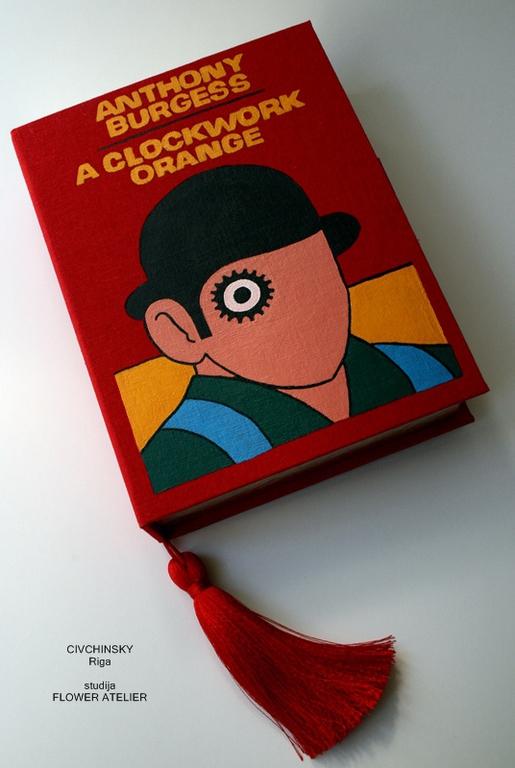 Женские сумки ручной работы. Ярмарка Мастеров - ручная работа. Купить A clockwork orange clutch - book.. Handmade. ткань
