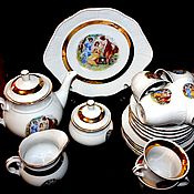 Винтаж handmade. Livemaster - original item Tea set for 6 persons