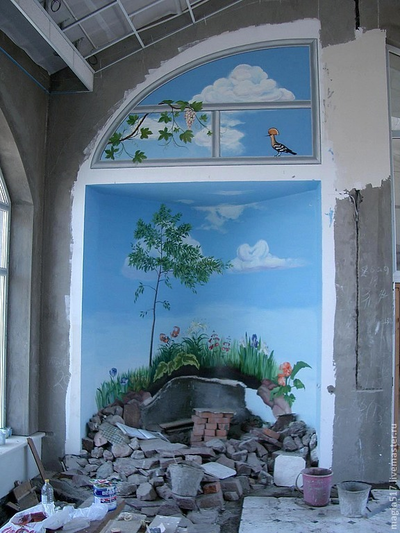 Художественная роспись стен, Дизайн, Москва,  Фото №1