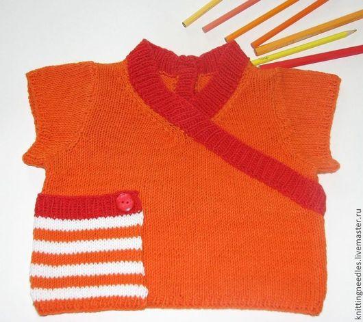 """Одежда для девочек, ручной работы. Ярмарка Мастеров - ручная работа. Купить Кофточка """"Оранжевое лето"""". Handmade. Оранжевый, кофточка"""
