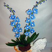 Цветы и флористика ручной работы. Ярмарка Мастеров - ручная работа Орхидея - керамическая флористика. Handmade.