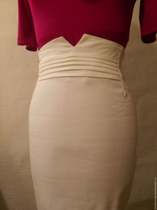 Юбки ручной работы. Ярмарка Мастеров - ручная работа. Купить Белая юбка из коттона. На выпускной. Скидка 40%. Handmade.