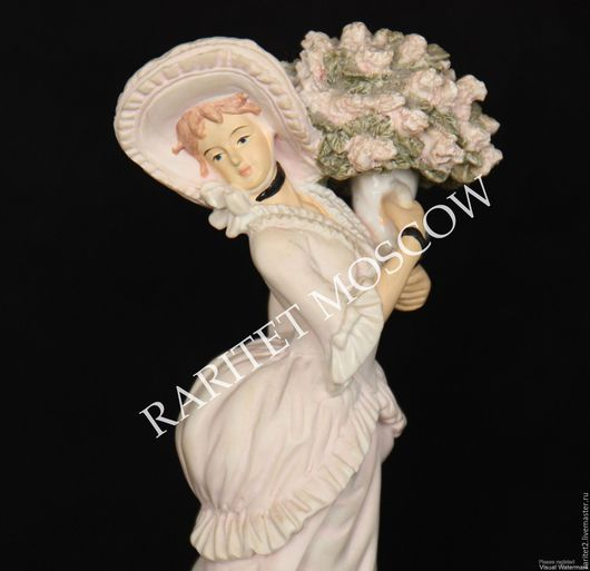 Винтажные предметы интерьера. Ярмарка Мастеров - ручная работа. Купить Девушка с цветами дама цветы Леонардо Англия 20. Handmade.