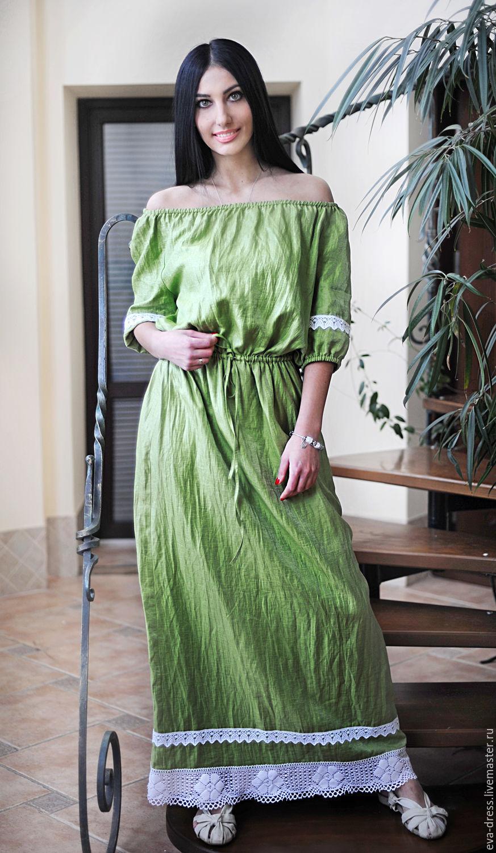 Фото простых платьев из льна