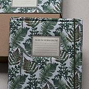 Канцелярские товары handmade. Livemaster - original item Album for a herbarium of the Species of ferns (A4, for 25 plants). Handmade.