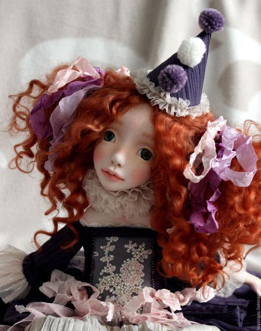 Коллекционные куклы ручной работы. Ярмарка Мастеров - ручная работа. Купить Флави. Handmade. Фиолетовый, авторская ручная работа