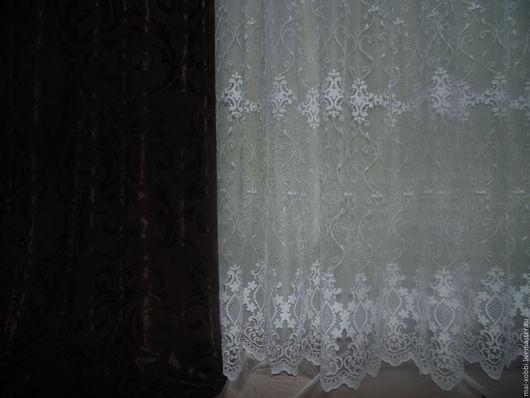 Текстиль, ковры ручной работы. Ярмарка Мастеров - ручная работа. Купить шторы с тюлью скидка !. Handmade. Коричневый