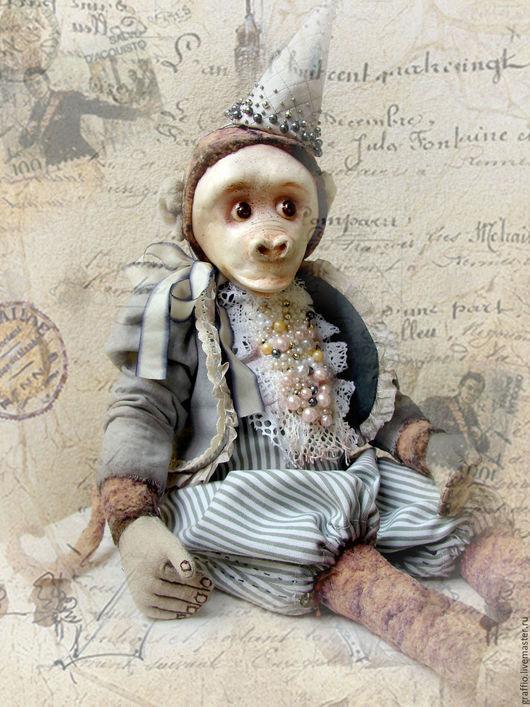 Коллекционные куклы ручной работы. Ярмарка Мастеров - ручная работа. Купить Лотрек. Handmade. Обезьянка, обезьяна игрушка