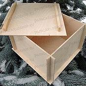 Материалы для творчества ручной работы. Ярмарка Мастеров - ручная работа Разборная коробка 15х15 см с крышкой из фанеры. Handmade.