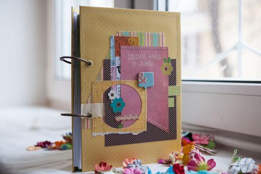 """Блокноты ручной работы. Ярмарка Мастеров - ручная работа. Купить Блокнот """"Мечты и надежды"""". Handmade. Комбинированный, блокнот с нуля, блокноты"""
