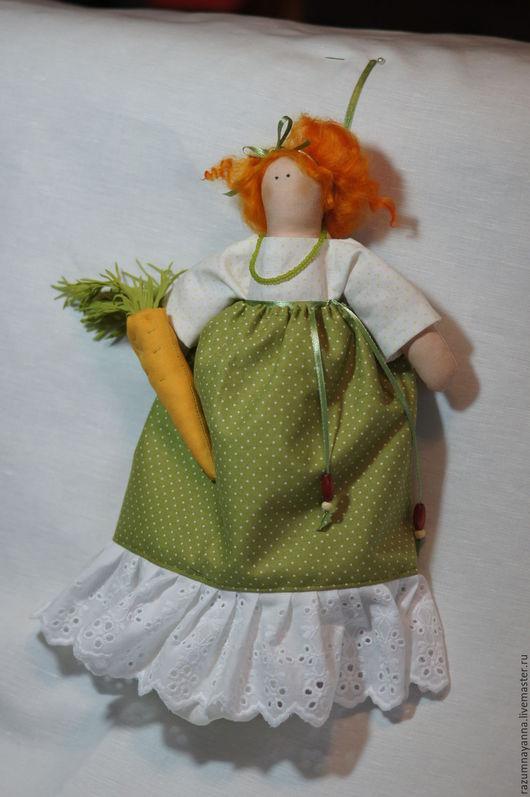 Куклы Тильды ручной работы. Ярмарка Мастеров - ручная работа. Купить Кукла пакетница. Handmade. Оливковый, кукла Тильда