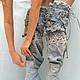 Обувь ручной работы. Ярмарка Мастеров - ручная работа. Купить Ботфорты-трансформеры на шпильке. Handmade. Голубой, индивидуальный стиль, джинса