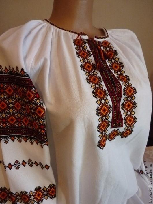 """Блузки ручной работы. Ярмарка Мастеров - ручная работа. Купить Блузка """"219"""". Handmade. Орнамент, Вышивка крестом, вышивка на заказ"""