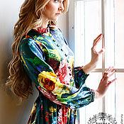 """Одежда ручной работы. Ярмарка Мастеров - ручная работа платье """"Фламандские цветы"""". Handmade."""