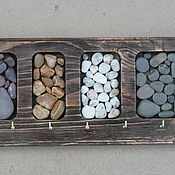 Ключницы ручной работы. Ярмарка Мастеров - ручная работа Деревянная ключница с морской галькой, морской сувенир, в ассортименте. Handmade.