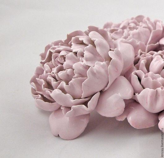 Розовый пион. Керамические цветы Елены Зайченко