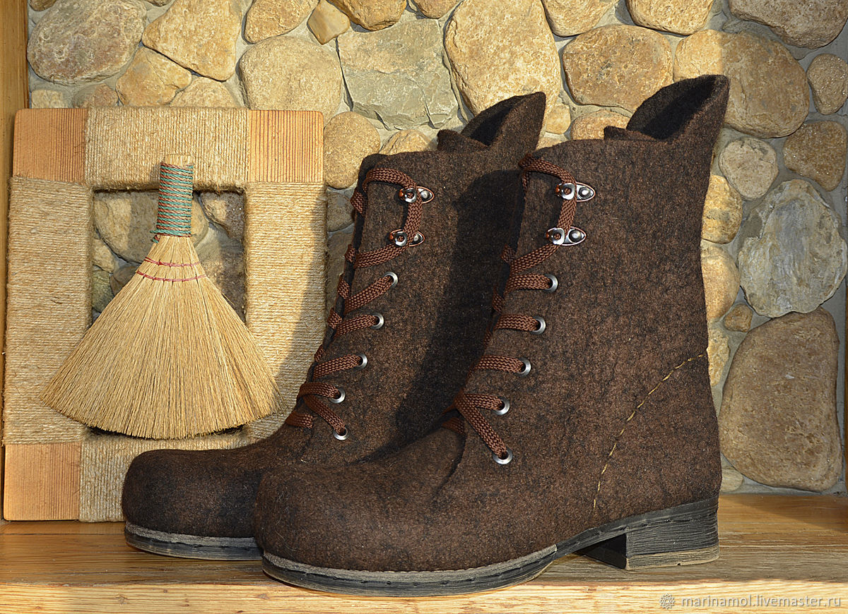 Women's felted boots 'Brown boots', Boots, Miass,  Фото №1