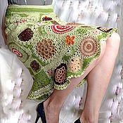 """Одежда ручной работы. Ярмарка Мастеров - ручная работа Юбка вязаная """"Мхи Исландии""""  Фриформ freeform crochet dress. Handmade."""