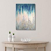 Картины и панно handmade. Livemaster - original item Painting interior Turquoise textural abstraction Northern Lights. Handmade.