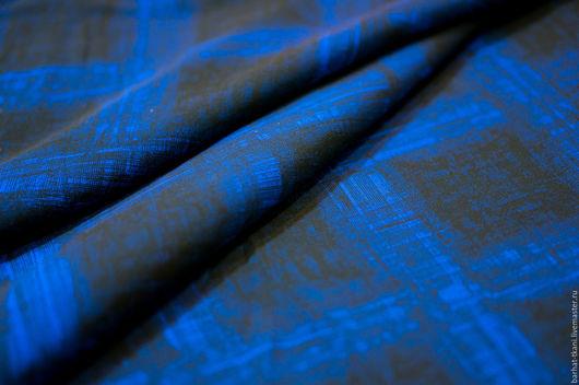 Шитье ручной работы. Ярмарка Мастеров - ручная работа. Купить Вискоза Hugo Boss. Итальянская ткань. Handmade. Тёмно-синий