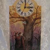 """Для дома и интерьера ручной работы. Ярмарка Мастеров - ручная работа Настенные часы """"Кот и ангел"""". Handmade."""