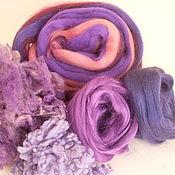 """Шерсть ручной работы. Ярмарка Мастеров - ручная работа Набор шерсти и волокон для валяния """"Виолет"""", 90 гр. Handmade."""