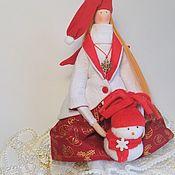Куклы и игрушки ручной работы. Ярмарка Мастеров - ручная работа Текстильная кукла Тильда новогодний Ангел. Handmade.