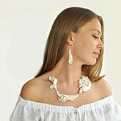 "Украшения handmade. Livemaster - original item Porcelain necklace from the collection ""Paper Porcelain"". Handmade."