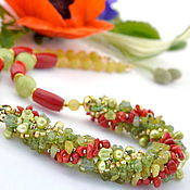Necklace handmade. Livemaster - original item Summer, Ah summer - necklace No. №2. Handmade.