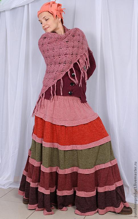 """Юбки ручной работы. Ярмарка Мастеров - ручная работа. Купить Юбка """"Боярыня"""". Handmade. Однотонный, осенняя юбка, длинная юбка"""