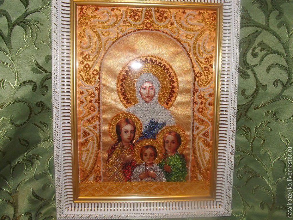 Подарки икон из бисера на пасху