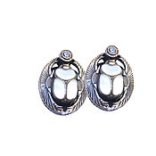 Украшения handmade. Livemaster - original item Earrings classic: Earrings silver mother of pearl zircon. Handmade.