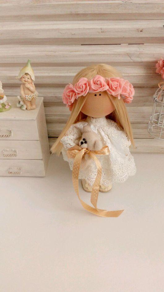 Куклы тыквоголовки ручной работы. Ярмарка Мастеров - ручная работа. Купить Текстильная кукла -малышка.Лёля. Handmade. Белый, подарок
