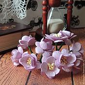 Цветы искусственные ручной работы. Ярмарка Мастеров - ручная работа Цветы вишни розовые 5 шт. Handmade.