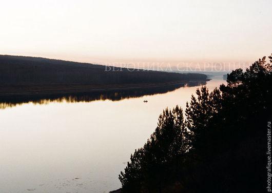"""Фотокартины ручной работы. Ярмарка Мастеров - ручная работа. Купить Фотокартина """"На реке"""". Handmade. Фотография, река, двое, бумага"""