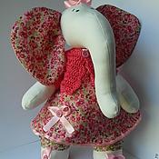 """Куклы и игрушки ручной работы. Ярмарка Мастеров - ручная работа Игрушка. Слон. """"Цветочек"""". Handmade."""
