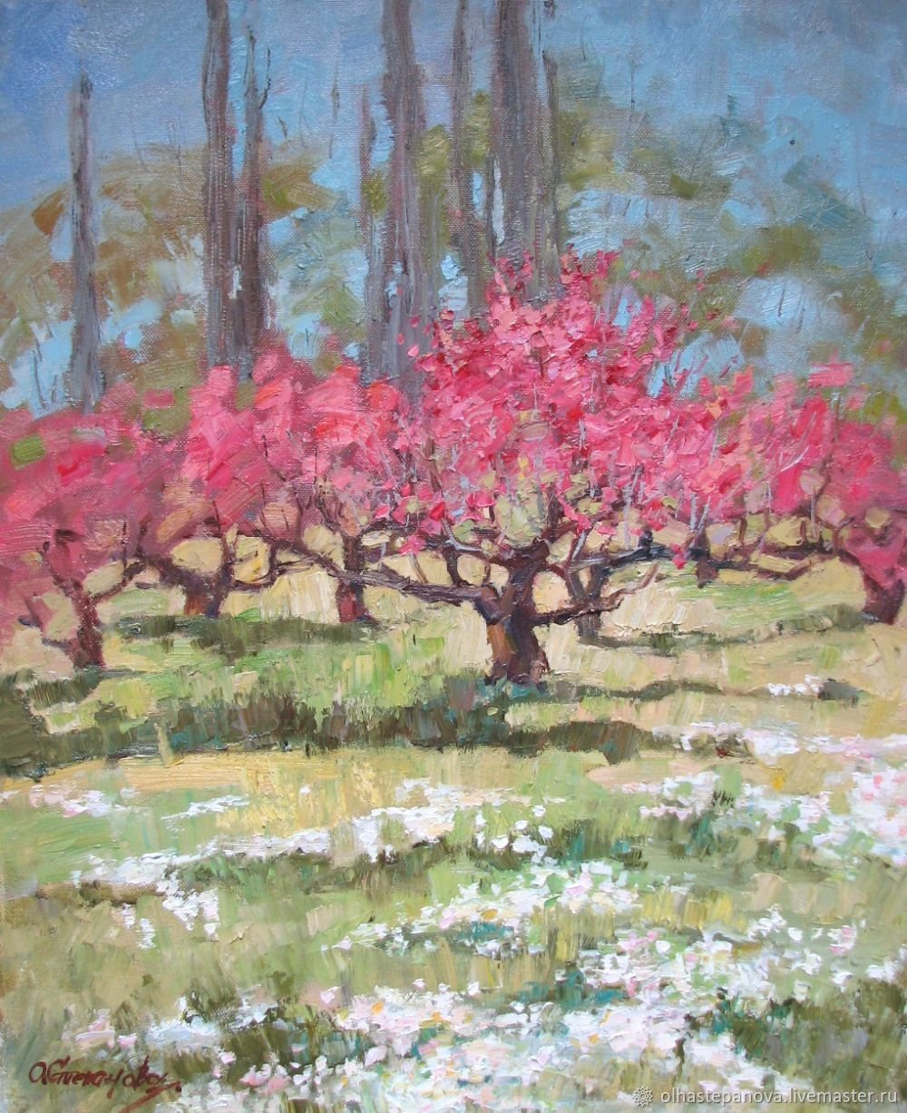 Oil painting 'Peach garden', oil on canvas, Pictures, Sevastopol,  Фото №1