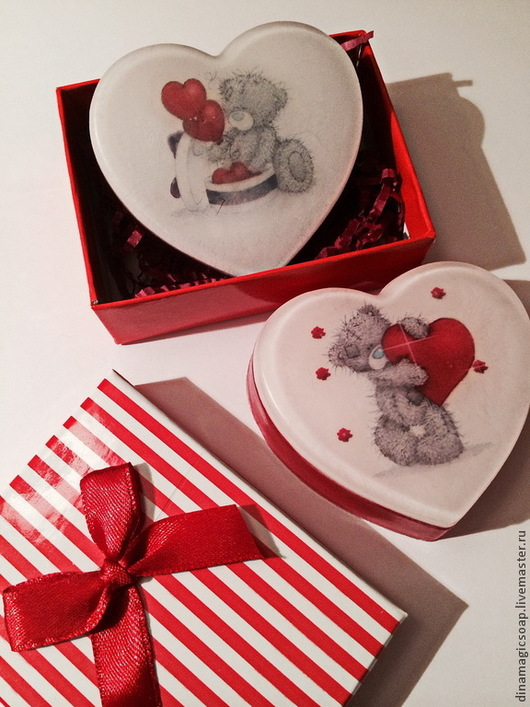 Мыло ручной работы. Ярмарка Мастеров - ручная работа. Купить Валентинки в подарочной упаковке. Handmade. Мыло ручной работы, мыло