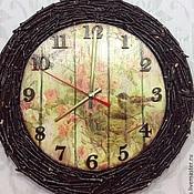 Часы классические ручной работы. Ярмарка Мастеров - ручная работа Часы Птахи. Handmade.