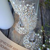 """Свадебный салон ручной работы. Ярмарка Мастеров - ручная работа Свадебные бокалы """" Love time"""". Handmade."""