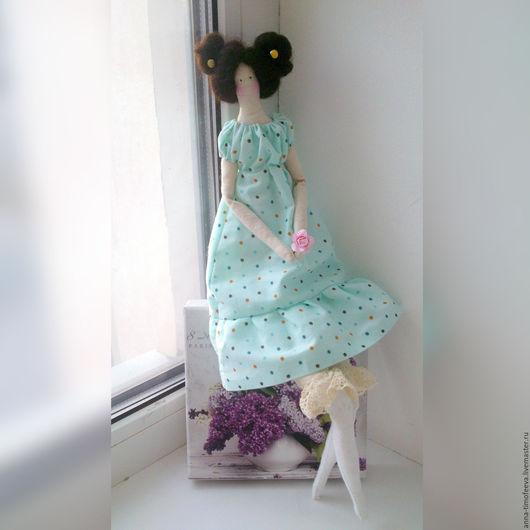 Куклы Тильды ручной работы. Ярмарка Мастеров - ручная работа. Купить Зоечка текстильная тильда принцесса. Handmade. Голубой, хлопок