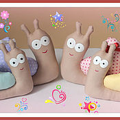 Куклы и игрушки ручной работы. Ярмарка Мастеров - ручная работа Сердечные улитки. Handmade.