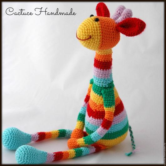Игрушки животные, ручной работы. Ярмарка Мастеров - ручная работа. Купить Жирафики. Handmade. Комбинированный, подарок малышу